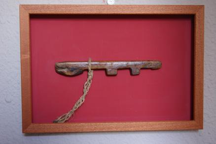 Llave de madera de pino. s XIX