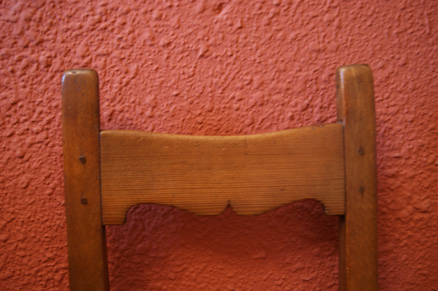 Silla restaurada siglo XVIII